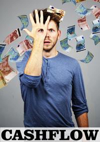 Cashflow is een dynamische voorstelling over geldgedrag en schulden. Jongeren komen steeds sneller in aanraking met verleidingen om geld uit te geven.